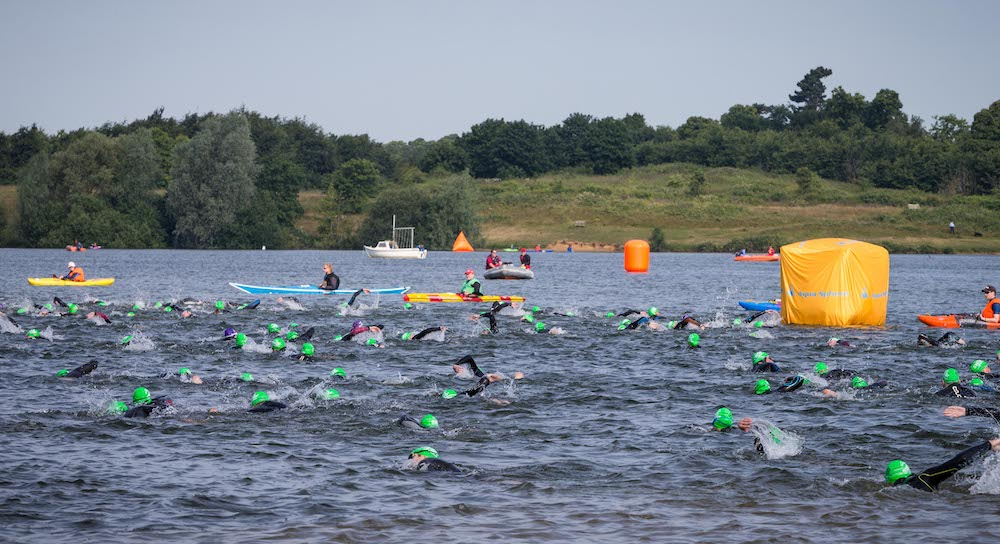 Swimmers in the Great East Swim