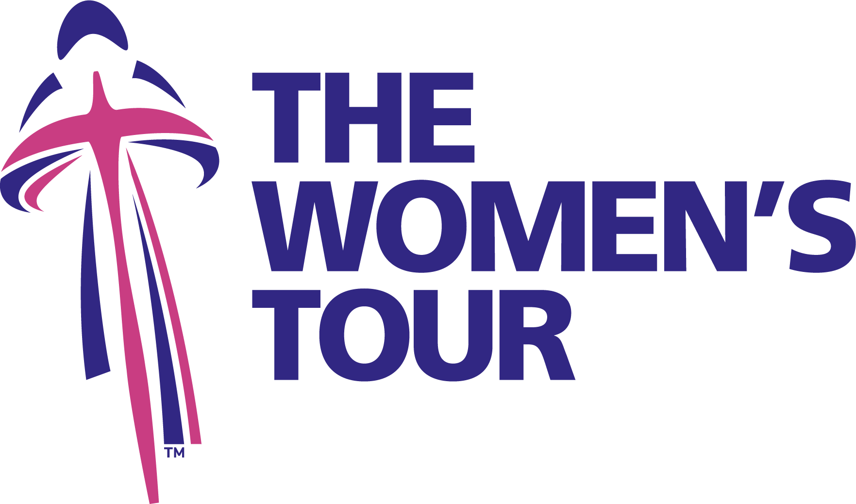 The Women's Tour logo with cyclist