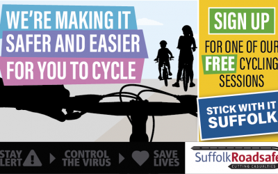 Free family cycling sessions available from Suffolk Roadsafe