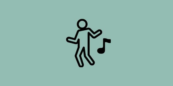 Dancing icon on green background