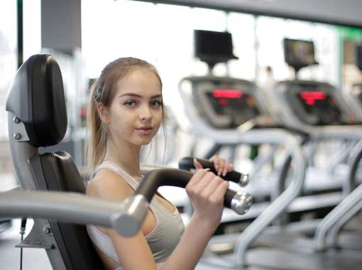 A young woman returning to exercise