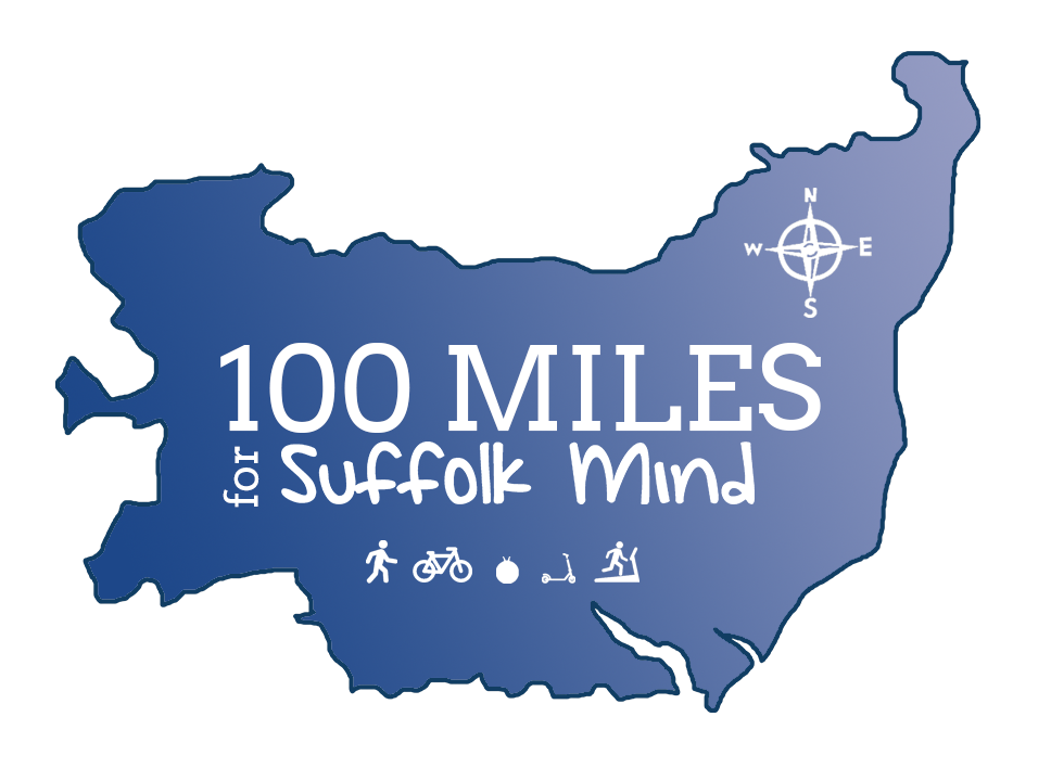 ma of suffolk with 100 miles written across