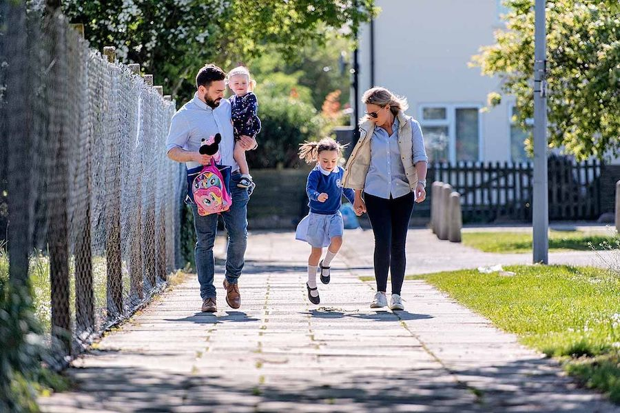 Thousands of Suffolk children stride out for Walk to School Week