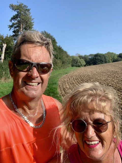 Baz and Bridget Goldstone out running
