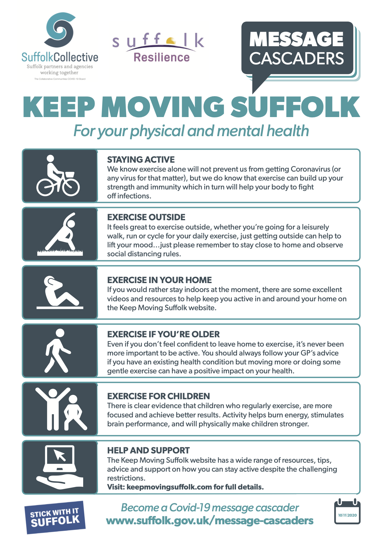 Infographic of exercising images