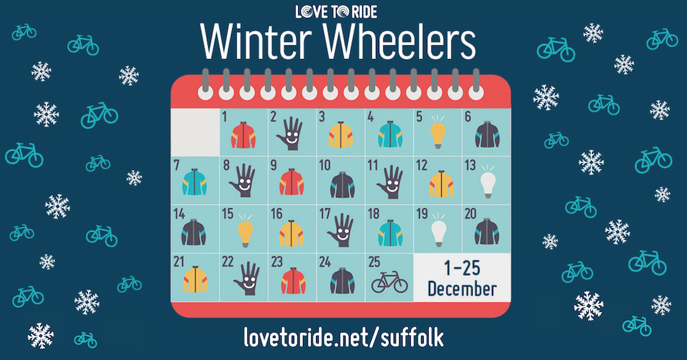 Winter Wheelers graphic of December calendar