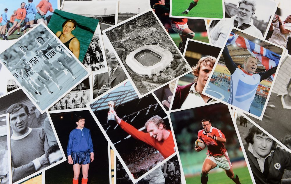 montage of sporting photos