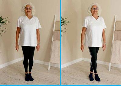 Lady doing sideways walking exercise