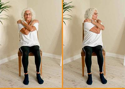 Lady doing upper body twists