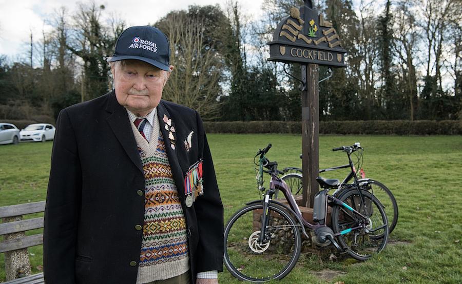 Norman Gregory in RAF Blazer