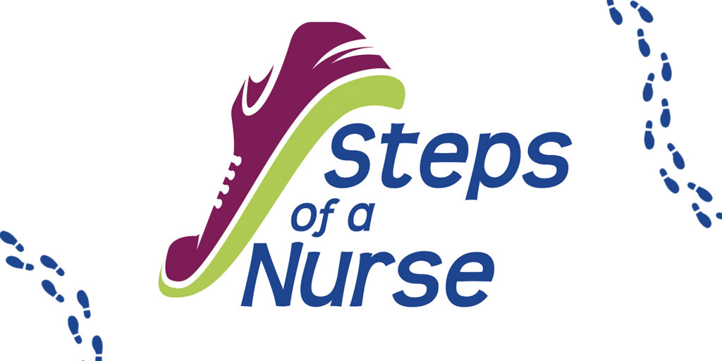 Steps of A nurse logo