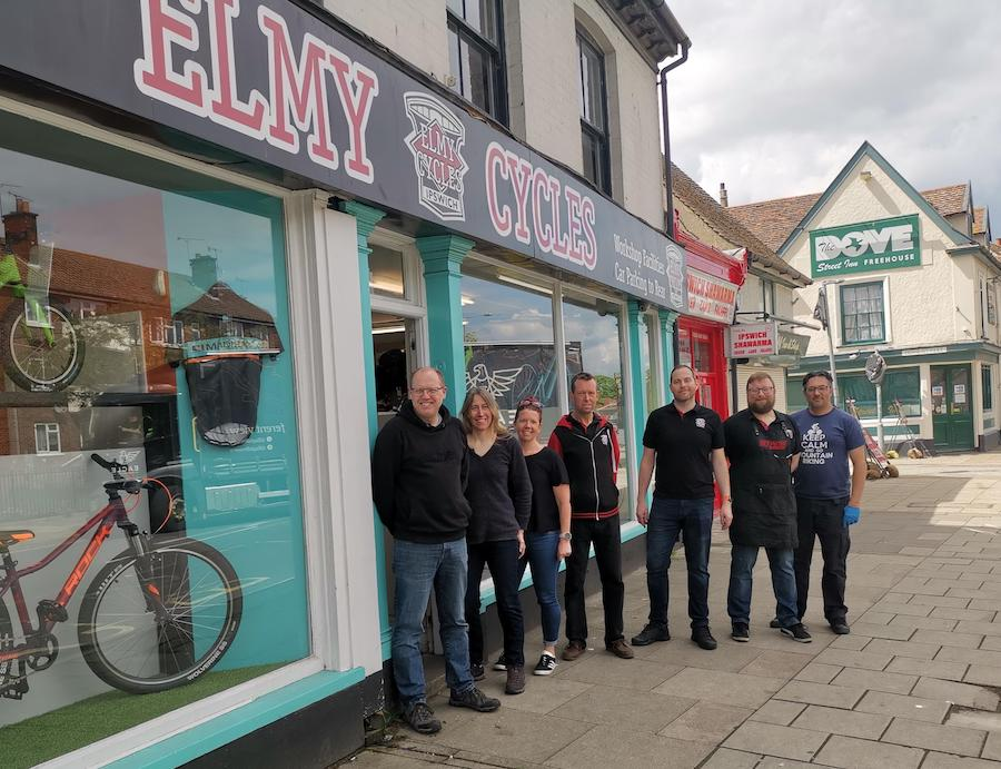 staff at elmy cycles