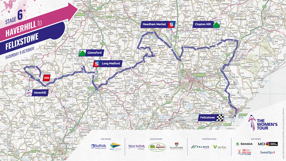 Sprint and Queen of the Mountains Climb locations for final stage of Women's Tour race confirmed